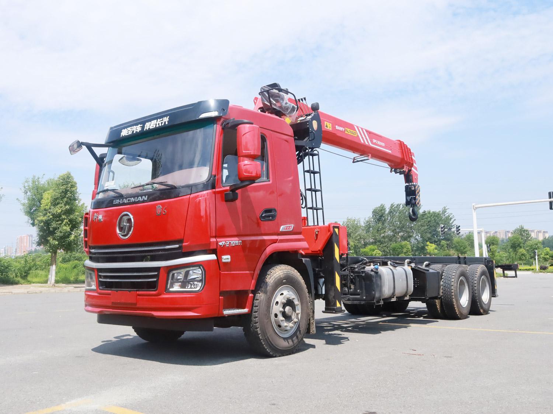 陕汽冀六后双桥三一14吨直臂吊机