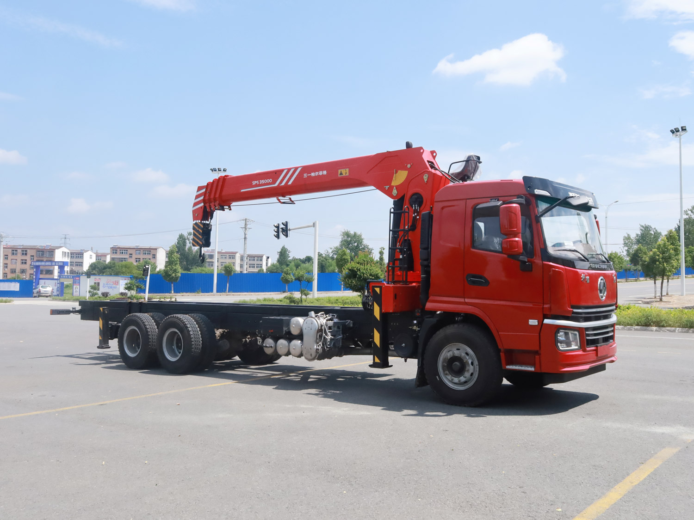 陕汽冀六后双桥三一14吨直臂吊机全方位高清图展示