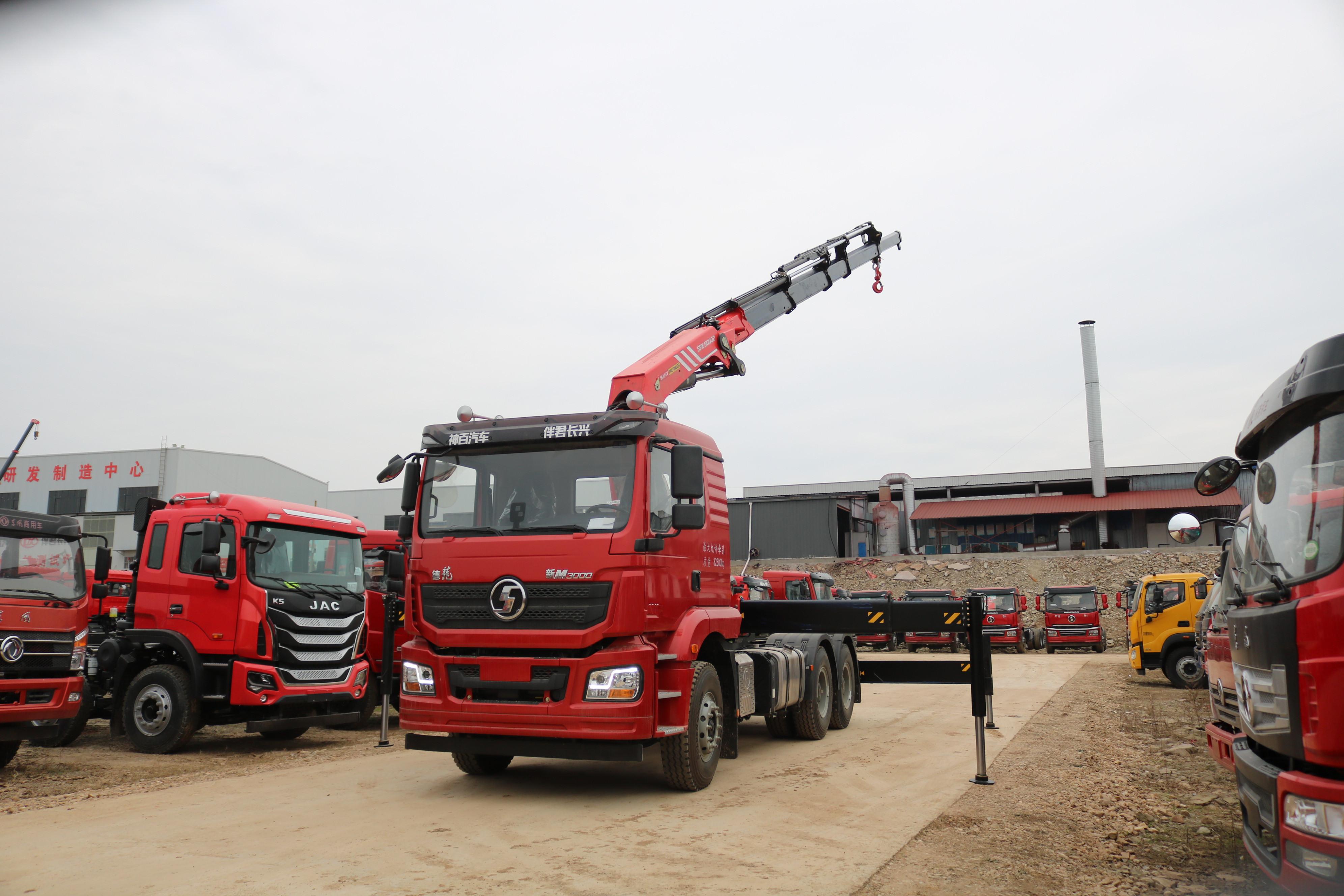德龙牵引头三一25吨折臂随车吊全方位高清图展示