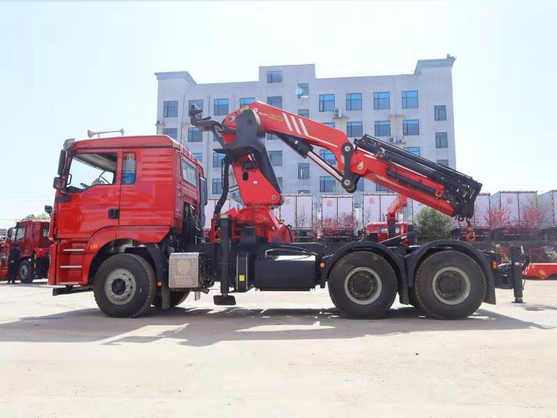 德龙牵引头三一30吨折臂随车吊全方位高清图展示