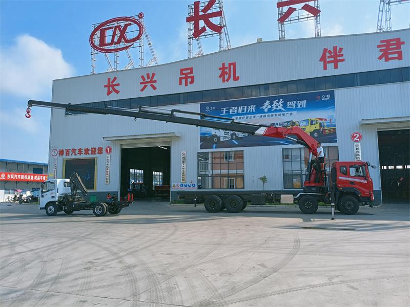 东风华神DV5长兴35吨折臂随车吊全方位高清图展示
