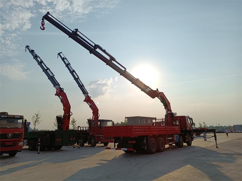 解放锡柴460马力长兴40吨折臂随车吊全方位高清图展示