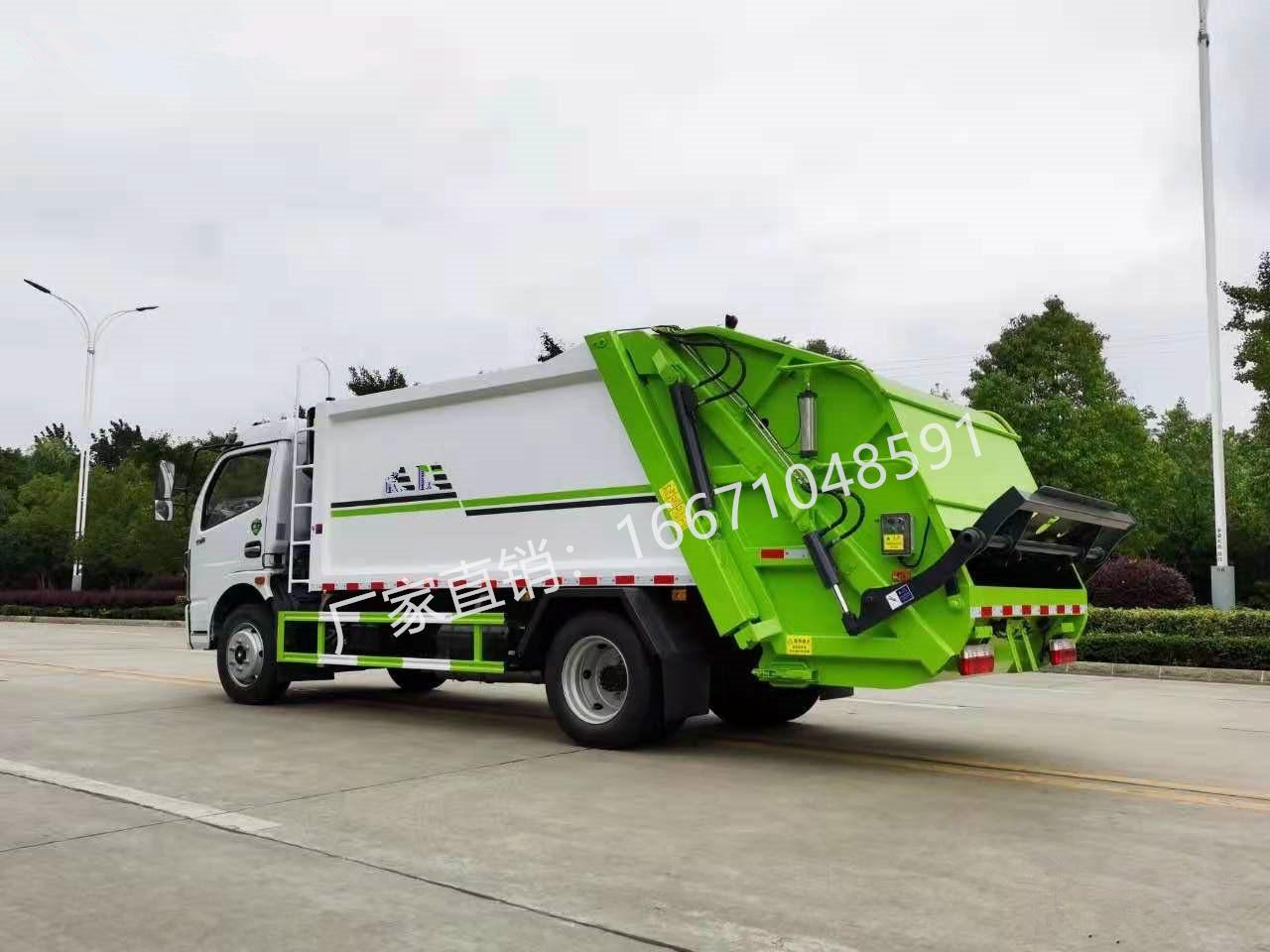 东风凯普特压缩式垃圾车全方位高清图展示