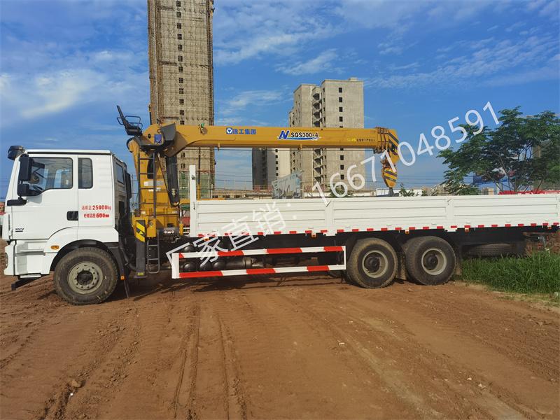 陕汽德龙后八轮徐工12吨随车吊全方位高清图展示