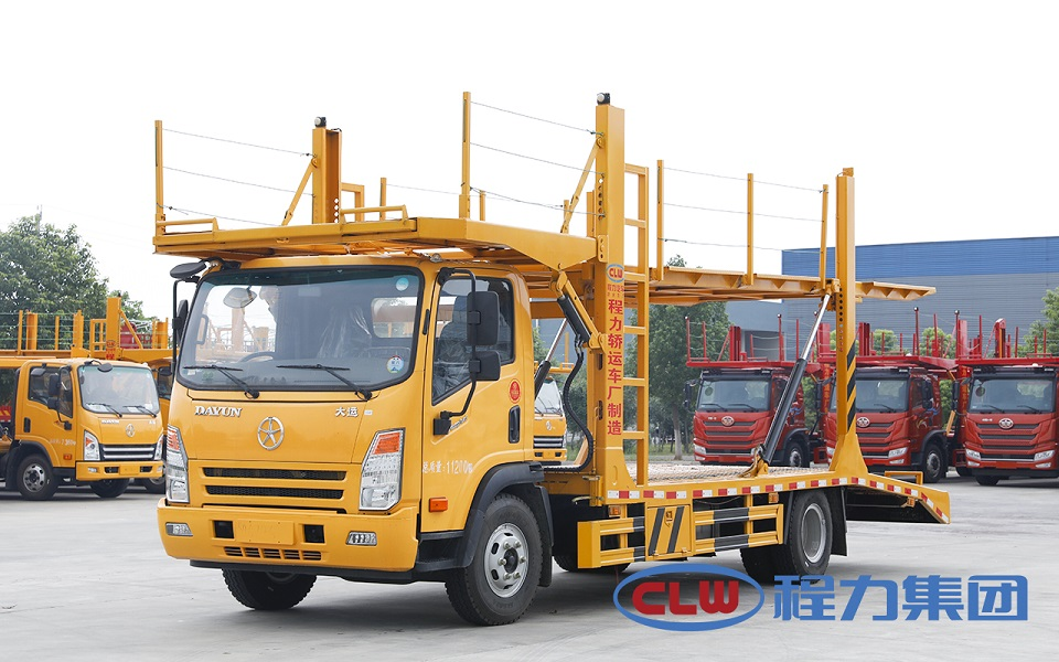 成都大运国六三位板车辆运输车图片