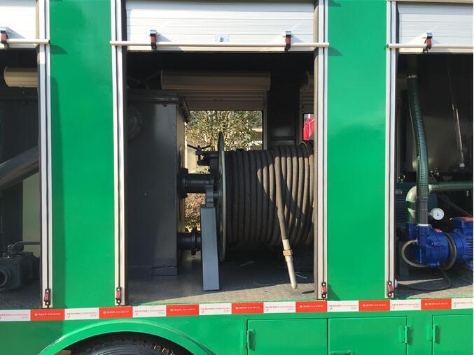 移动污车处理车水泵,吸管