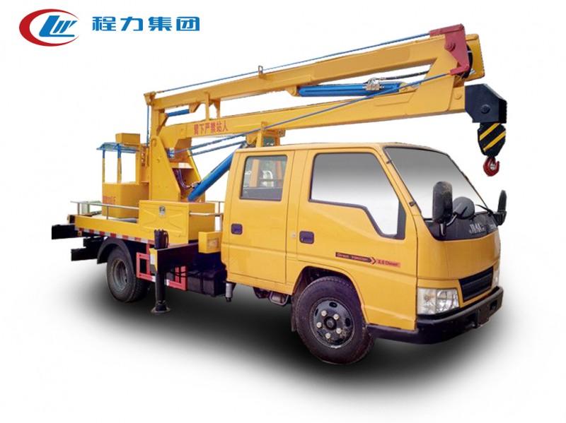 江铃双排12米蓝牌高空作业车图片