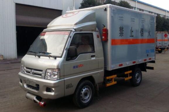 福田驭菱危险品厢式运输车(1.2.3类)