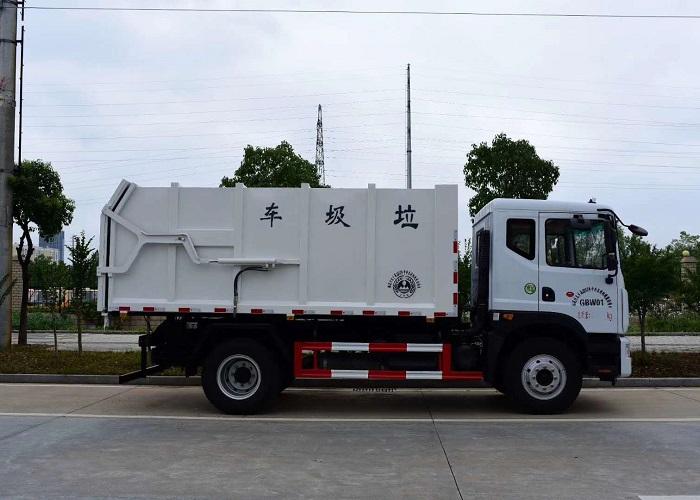 东风多利卡D9压缩式对接垃圾车图片三