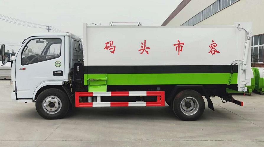 东风多利卡D6侧装压缩垃圾车6立方图片四