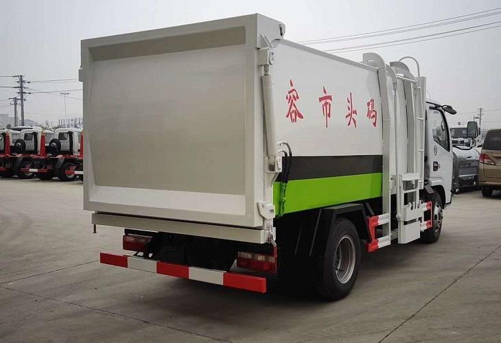 东风多利卡D6侧装压缩垃圾车6立方图片六