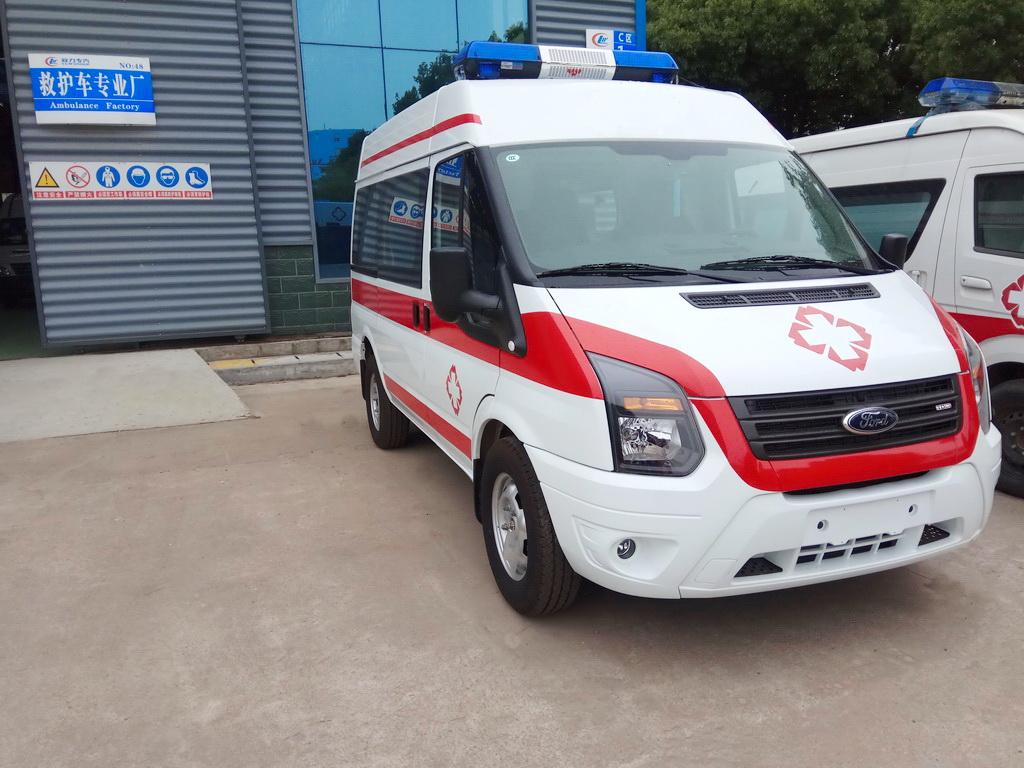 福特新世代V348短轴柴油运输型救护车图片