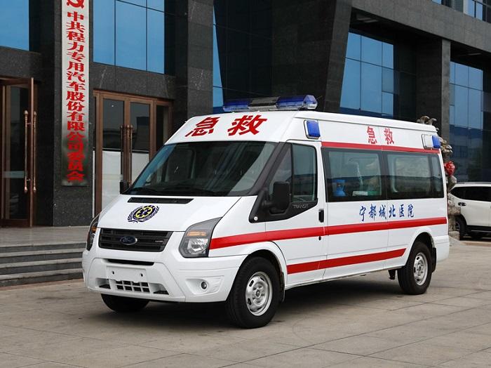 福特全顺新世代V348长轴中顶运输型救护车图片