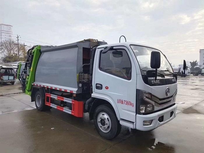 国六东风多利卡D6系列6方压缩式垃圾车图片二