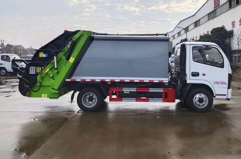 国六东风多利卡D6系列6方压缩式垃圾车图片三