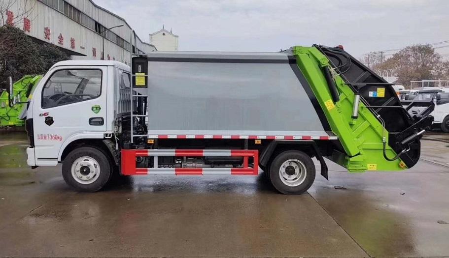 国六东风多利卡D6系列6方压缩式垃圾车图片四