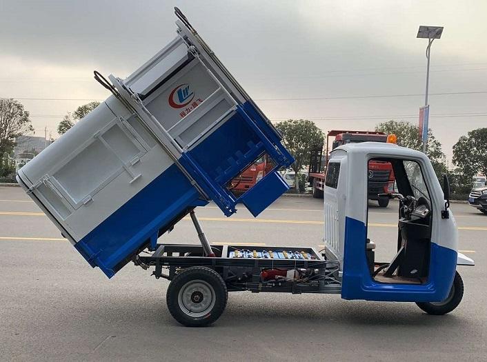 纯电动3方三轮挂桶垃圾车图片四