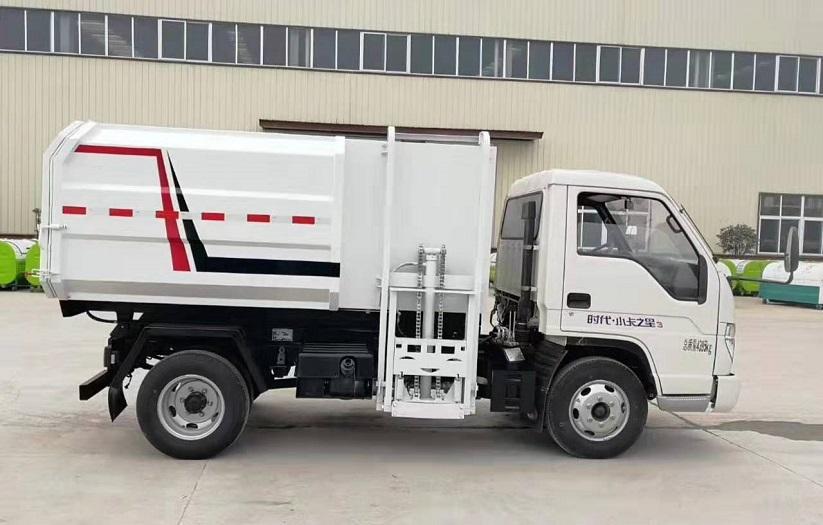 福田时代蓝牌侧装压缩式对接垃圾车挂桶式垃圾车(自装卸式垃圾车)图片二
