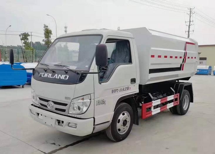 福田时代蓝牌侧装压缩式对接垃圾车挂桶式垃圾车(自装卸式垃圾车)图片三