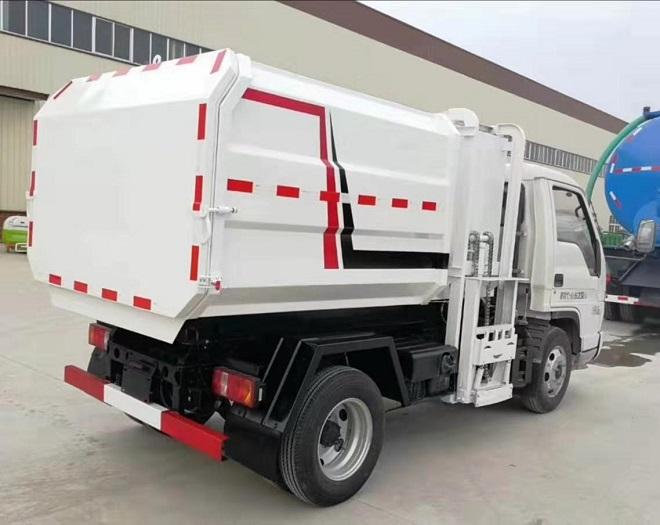 福田时代蓝牌侧装压缩式对接垃圾车挂桶式垃圾车(自装卸式垃圾车)图片四