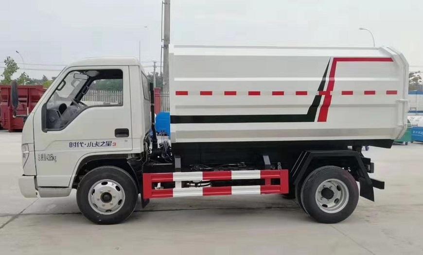 福田时代蓝牌侧装压缩式对接垃圾车挂桶式垃圾车(自装卸式垃圾车)图片五