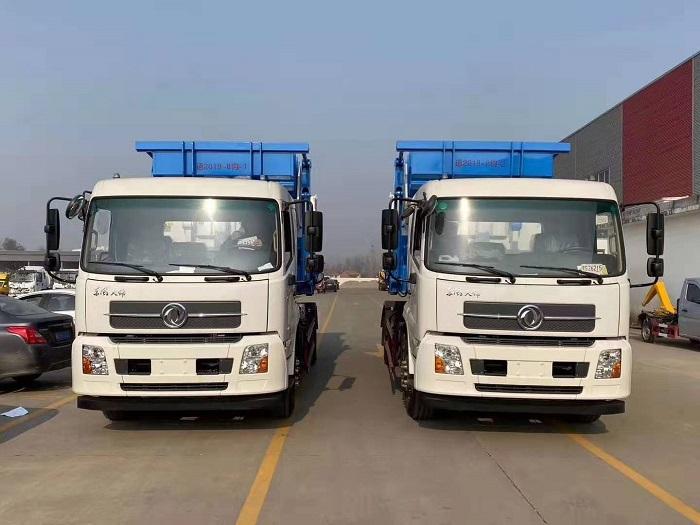 东风天锦16吨勾臂式垃圾车图片一
