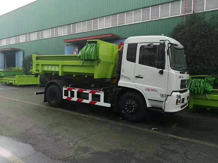 东风20吨建筑垃圾勾臂车20T伸缩套臂图片三