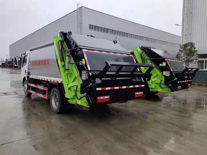 东风多利卡K7国六8方后装压缩式垃圾车图片五