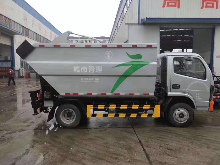 东风国六无泄露垃圾车图片四