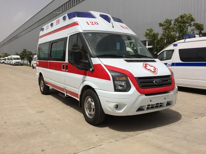 福特新世代V348长轴福星顶监护型救护车图片