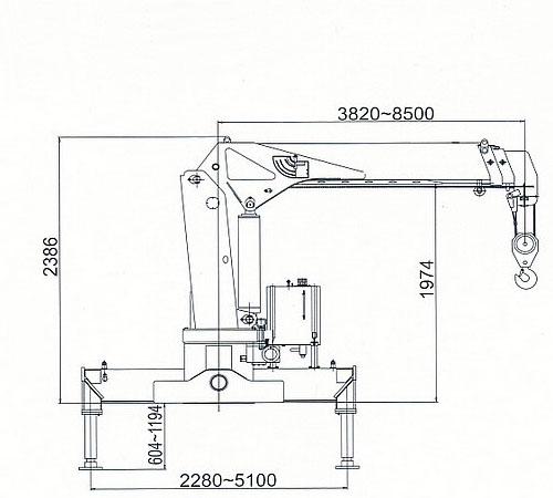 徐工6.3吨随车吊三节臂尺寸