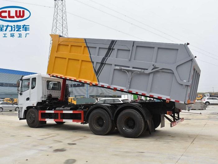 国六东风后双桥对接式垃圾车图片三