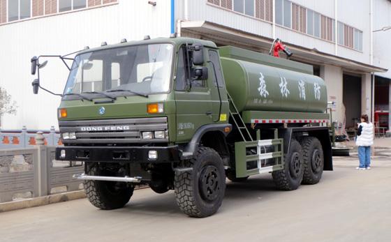 东风8吨六驱森林消防水罐车出发内蒙古出发内蒙古大兴安岭国有林重点管理局