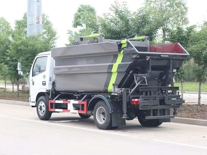 国六东风多利卡7方高位无泄露自装卸压缩垃圾车图片三