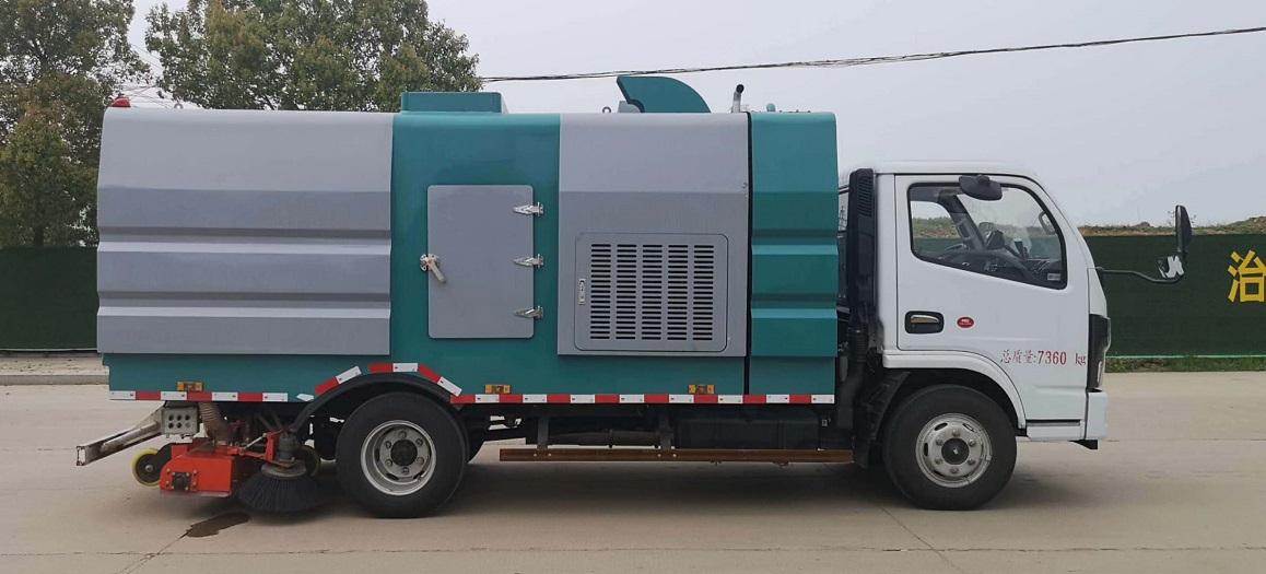 东风D7新式竖直滤筒吸尘车图片四
