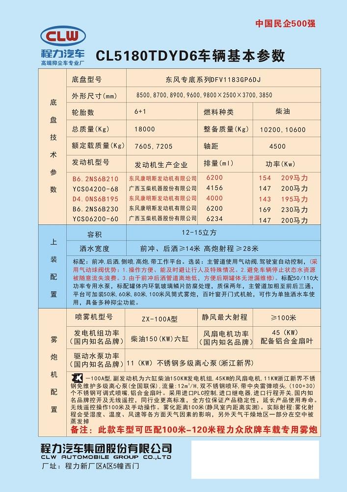 东风专底系列100,120抑尘车图片二